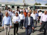 Kavuş ve meclis üyeleri belediyenin tesislerini gezdi
