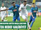 Konyaspor kritik maça çıkıyor! Tek hedef galibiyet