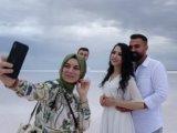Düğün fotoğraflarının yeni adresi Tuz Gölü