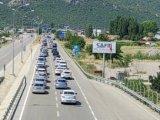 Seydişehir Antalya yolunda bayram tatilinden dönüş yoğunluğu