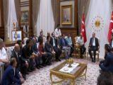 Cumhurbaşkanı Erdoğan, sanatçı, oyuncu, radyocu ve sporcuları kabul etti