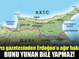 Kıbrıs gazetesinde Erdoğana ağır hakaret!