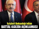 İçişleri Bakanlığından Battal İlgezdi açıklaması