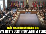 AGİT zirvesinde büyük kriz! Türkiye resti çekti
